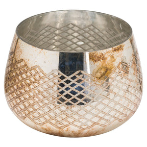 11cm Burnished Wide Tealight Holder