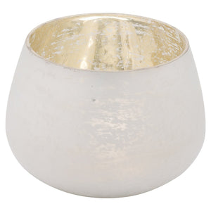 11cm Frosted White Wide Tealight Holder