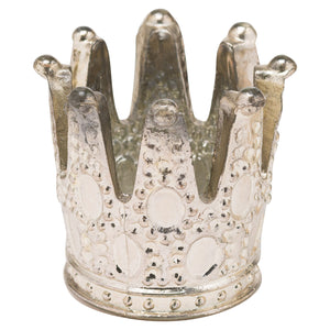 8cm Mercury Crown Tealight Holder