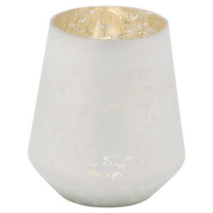 16cm Frosted White Decorative Vase