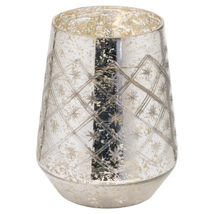 23cm Large Mercury Etched Candle Holder