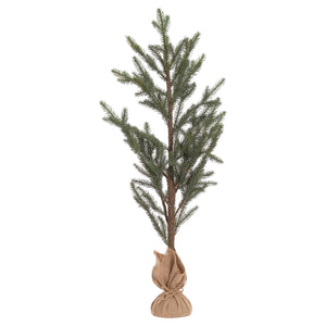 Large Artificial Pine Tree in Hessian Pot