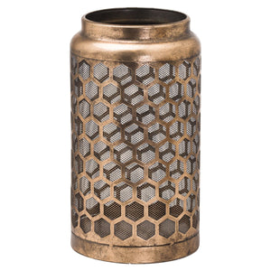 34cm Large Bronze Honeycomb Lantern