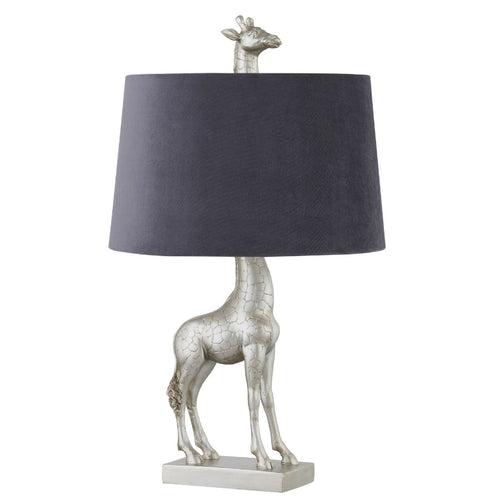 PRE-ORDER Silver Giraffe Table Lamp