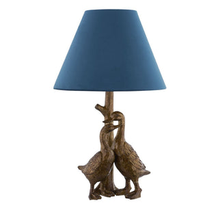 PRE-ORDER Gold Pair Of Ducks Table Lamp