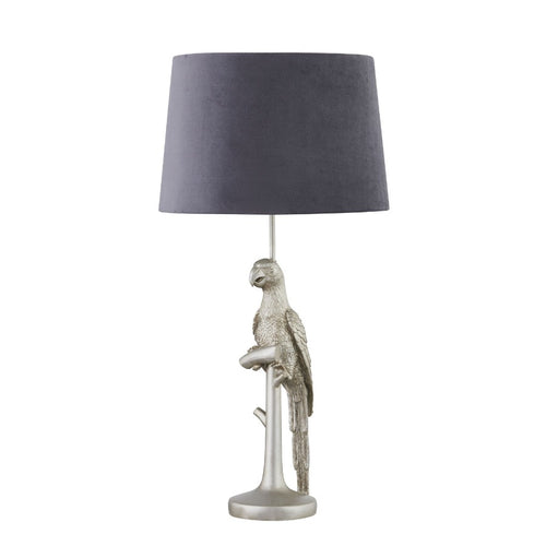 PRE-ORDER Silver Parrot Table Lamp