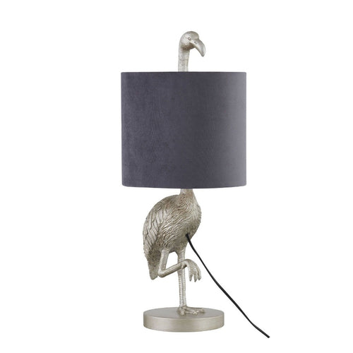PRE-ORDER Silver Flamingo Table Lamp