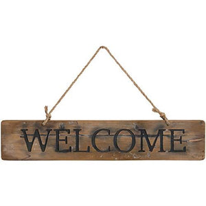 65cm Welcome Reclaimed Pine Message Plaque