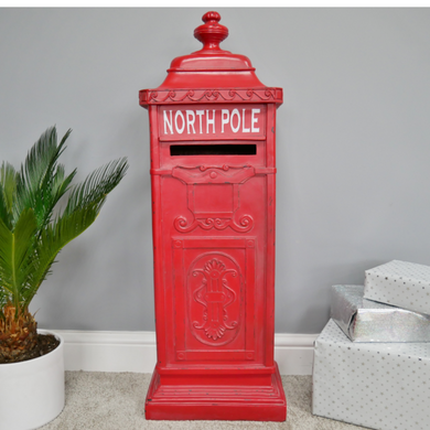 91cm Red North Pole Christmas Post Box