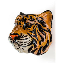 Tiger Ceramic Animal Head Wall Sconce /  Vase