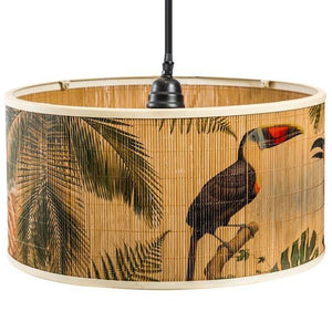 Natural Bamboo Pendant with Toucan Detail