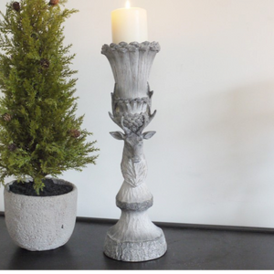 Stag Pillar Candle Holder Large
