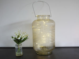 Large Glass Barrel with Fairy Lights
