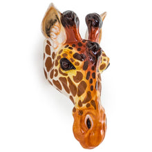 Giraffe Ceramic Animal Head Wall Sconce /  Vase