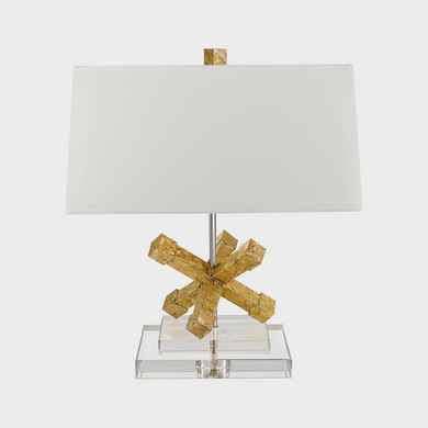 Jackson Square Distressed Gold Table Lamp