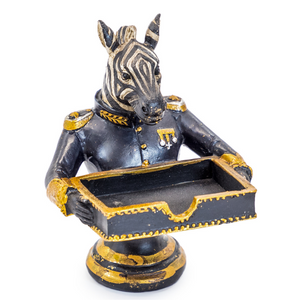 Gentry Zebra Bust Card Holder