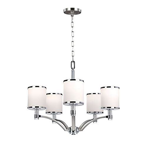 Delicato Satin Nickel 5 Light Chandelier