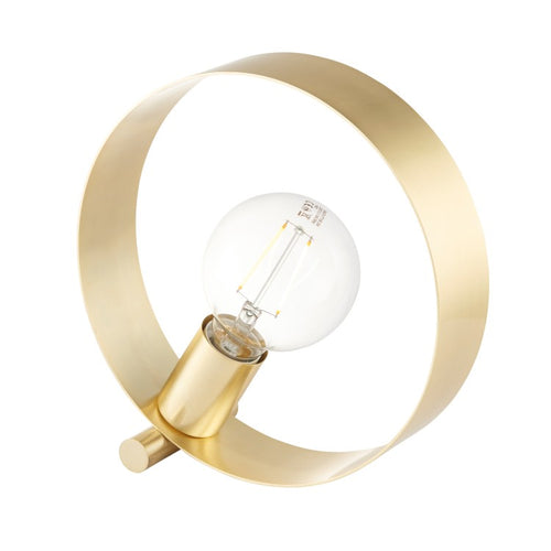 Brushed Brass Hoop Table Lamp