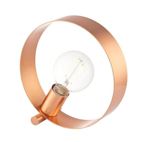 Brushed Copper Hoop Table Lamp