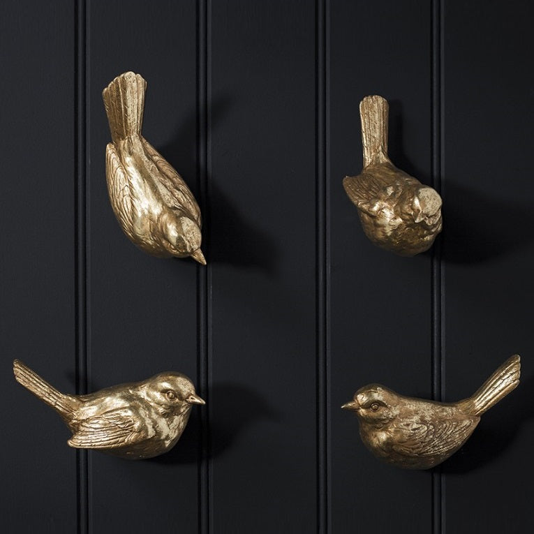 Set of 4 Gold Bird Wall Ornaments