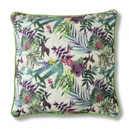 45cm Tropical Print Square Cushion