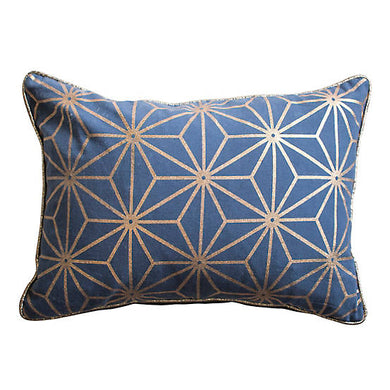 35x50cm Metallic Geometric Cushion