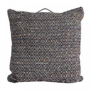 Black and Silver Large Floor Cushion