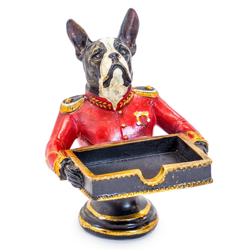 Gentry French Bulldog Bust Card Holder