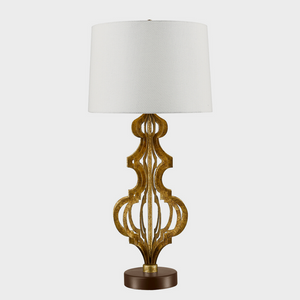 Octavia Distressed Gold Table Lamp