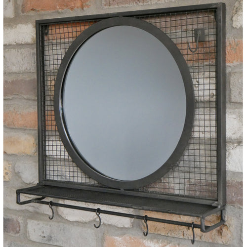 Industrial Style Mirror Unit