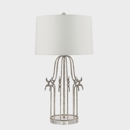 Stella Distressed Gold Table Lamp