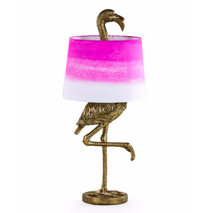 Antique Gold Flamingo Table Lamp with Fade Shade