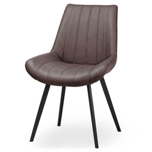 PRE-ORDER Trondheim Grey Faux Leather Dining Chair