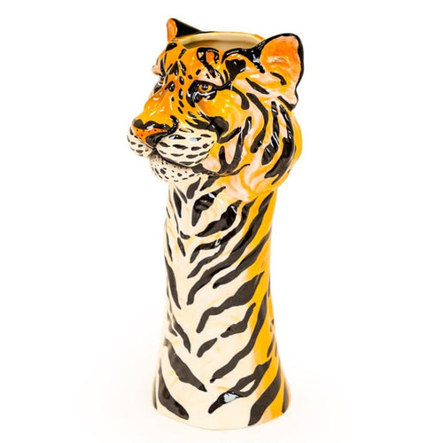 Tiger Freestanding Ceramic Animal Head Vases