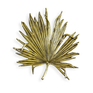 Large Antique Gold Palm Leaf Wall Art