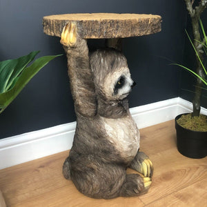 52cm Sloth Trunk Slice Side Table