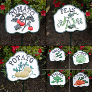 Hand Painted Cast Iron Vegetable Patch Signs