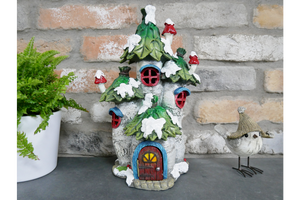 The Fairy Village Resin Christmas Holly Roof House