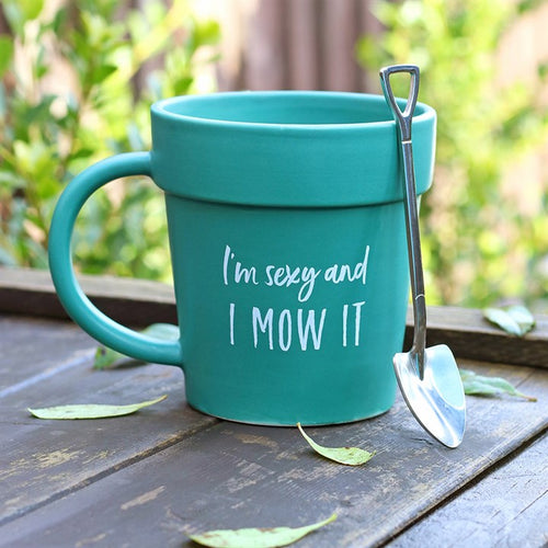 I'm Sexy And I Mow It Mug & Spoon Set