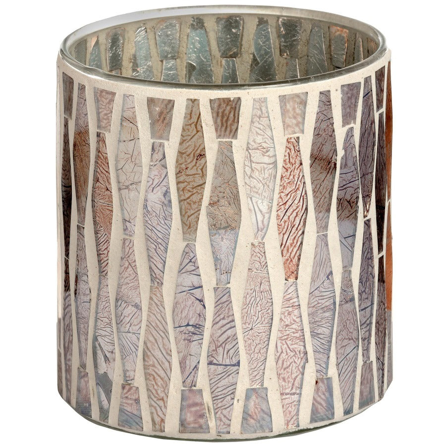 Antique Silver Mosaic Candle Holders - Three Sizes Available