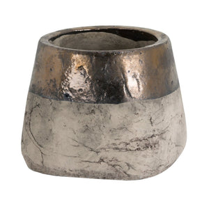 21cm Metallic Dipped Planter