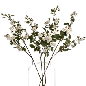 Artificial Wild Meadow Rose Stem