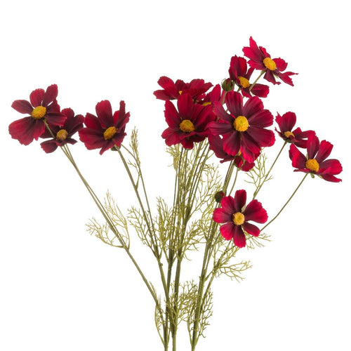 92cm Deep Red Cosmos Spray
