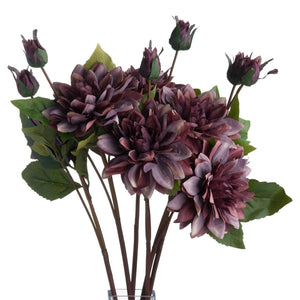 58cm Dusty Purple Dahlia Single Stem