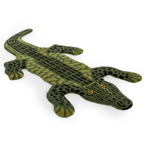 PRE-ORDER Small Faux Alligator Skin Woollen Rug