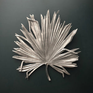 Extra Large Antique Silver Palm Leaf Wall Art