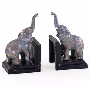 Cast Iron Peeking Elephants Bookends