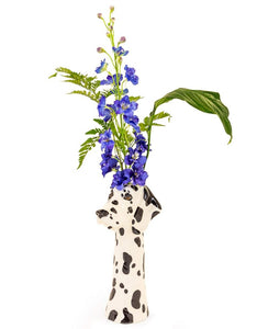 Dalmatian Freestanding Ceramic Animal Head Vases