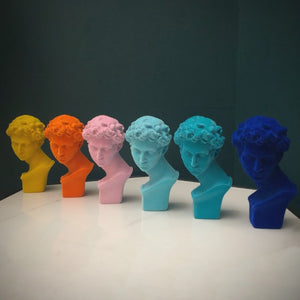 14.5cm Classic Atomic Orange Flock Bust