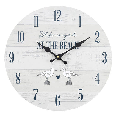 34cm Life Is Good At The Beach Wall Clock